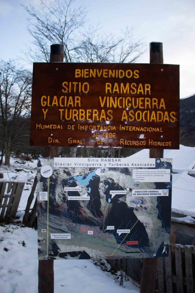 sitio ramsar camino al glaciar vinciguerra