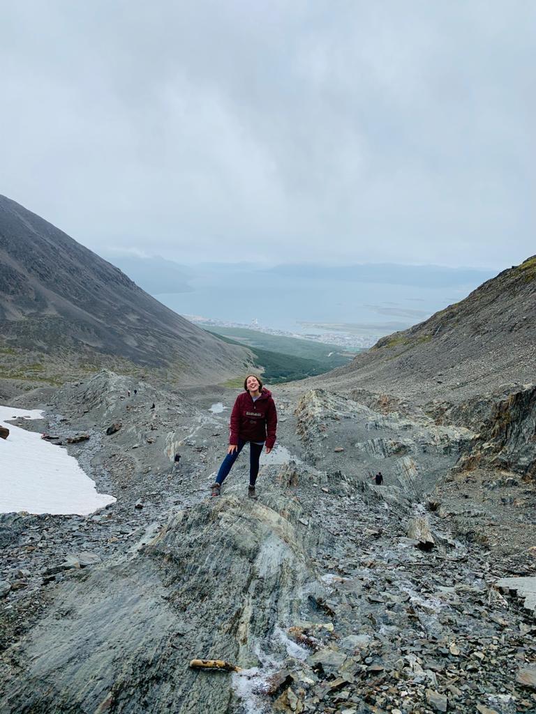 vista desde el glaciar martial