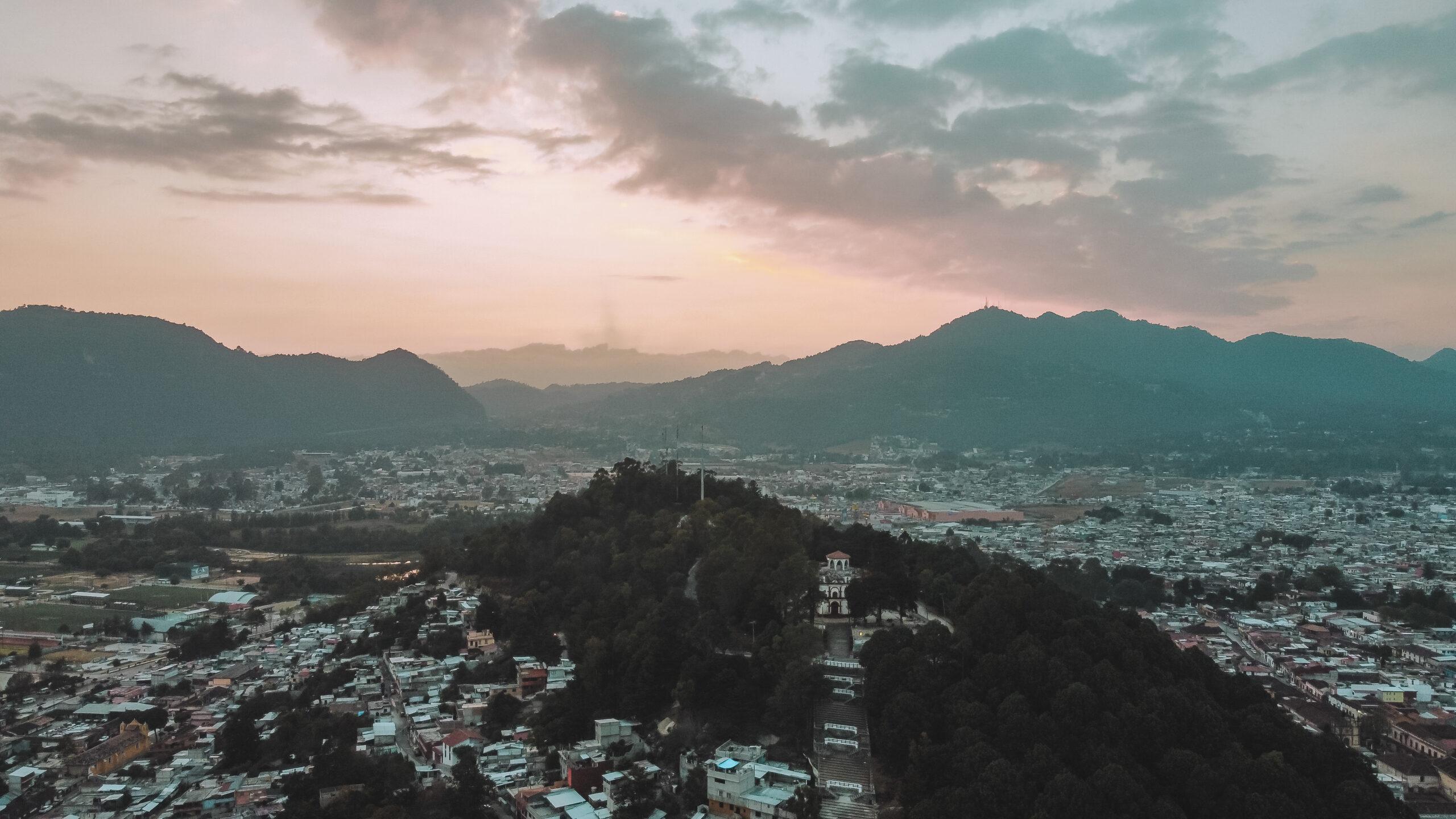 San Cristobal de las Casas desde el aire