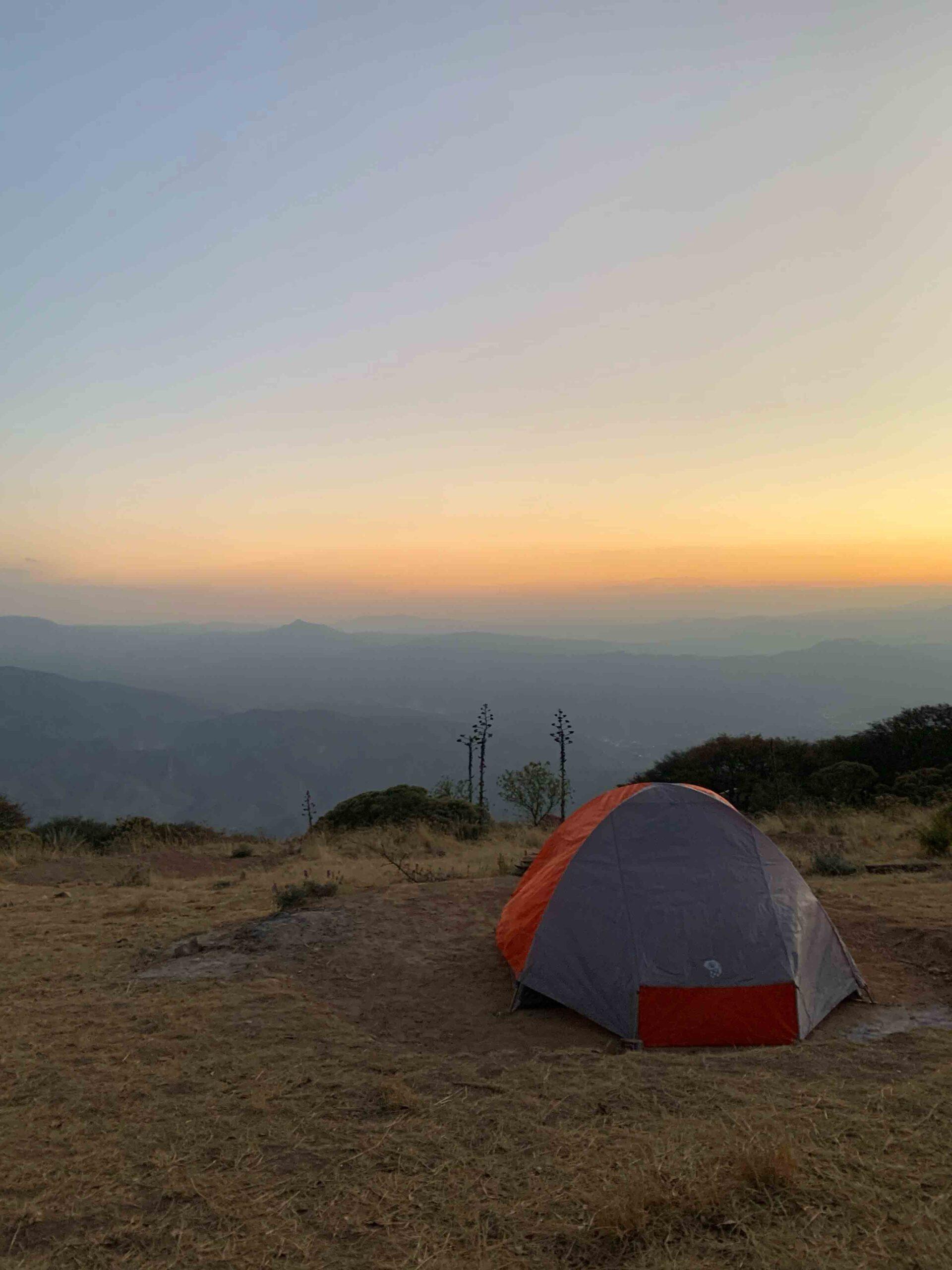 acampando mirador 4 palos